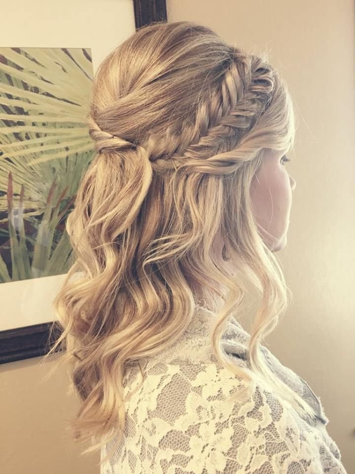 cute bridesmaids hairstyles for long hair
