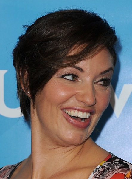 Bianca Kajlich Short Straight Hairstyle