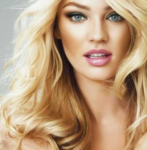 Long Blonde Hairstyles With Side Fringe