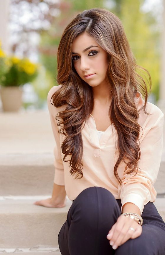 Delightful Long Curly Hairstyle