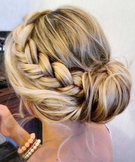 messy-bun-with-braid