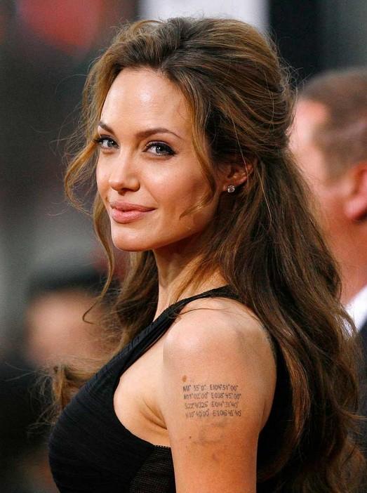 Angelina Jolie's Half Up Half Down Hairstyle