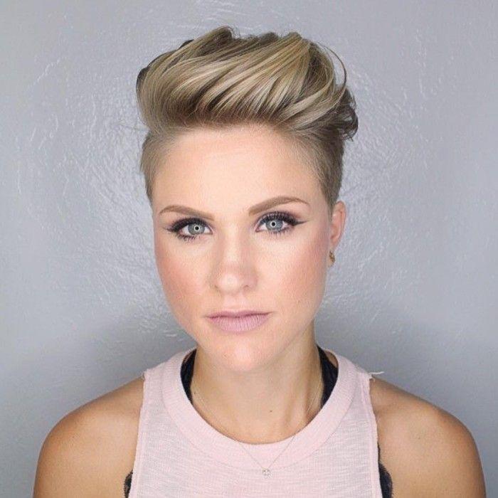 Blond Undercut Hairstyle for Women