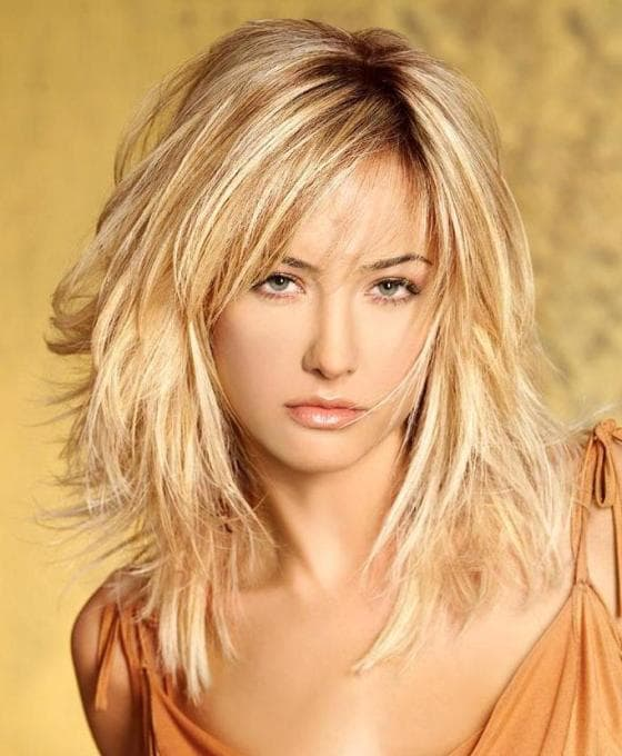 Blonde Layered Medium Haircuts