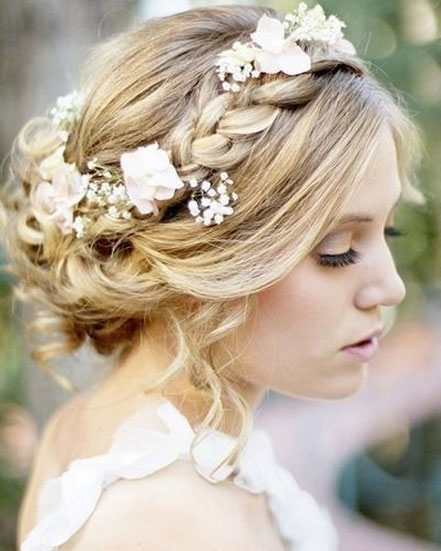Braided Wedding Hairstyles with Flowers