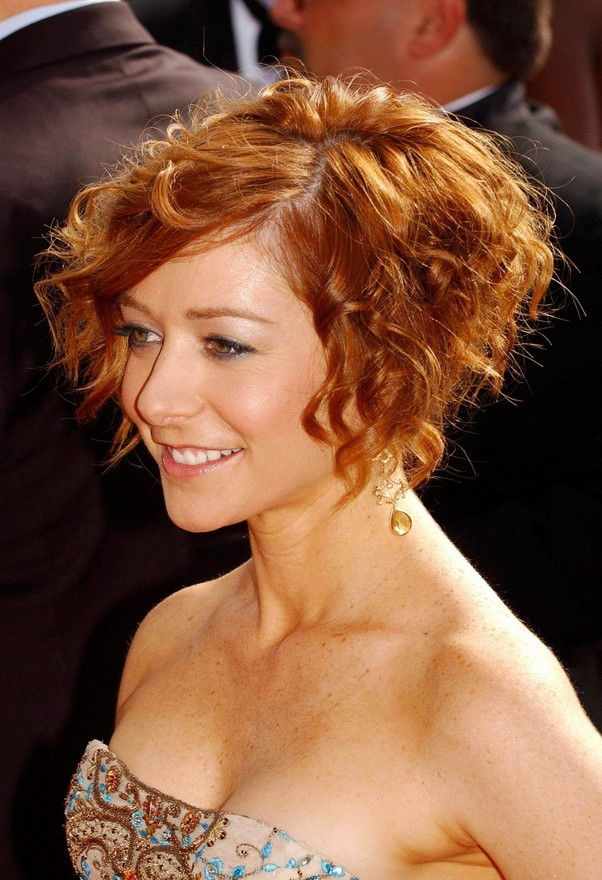 Colored Curly Bob Hair