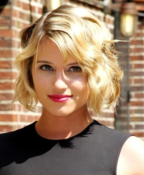 Curly Wavy Bob Hairstyle