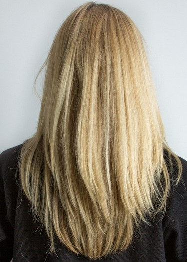 Long Straight Golden Blond Hairstyle