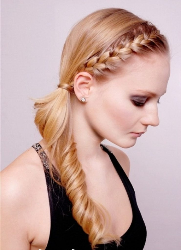 Side Braided Ponytail Hairstyle