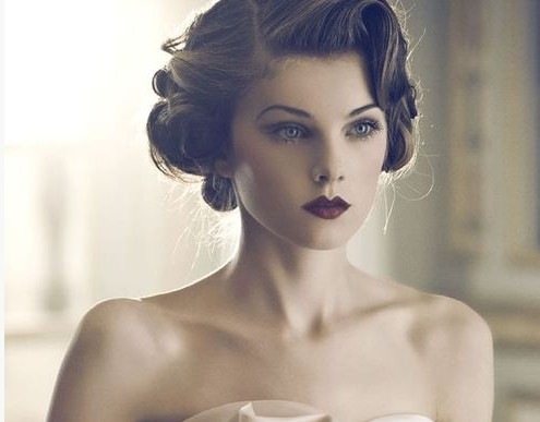 Vintage Updo for Wedding Hair