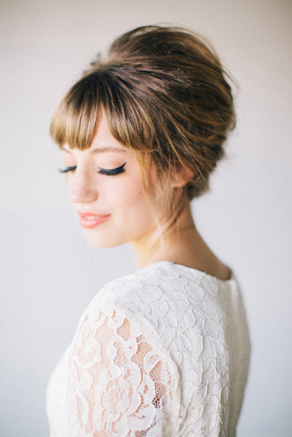 Vintage Wedding Hairstyles with Fringe