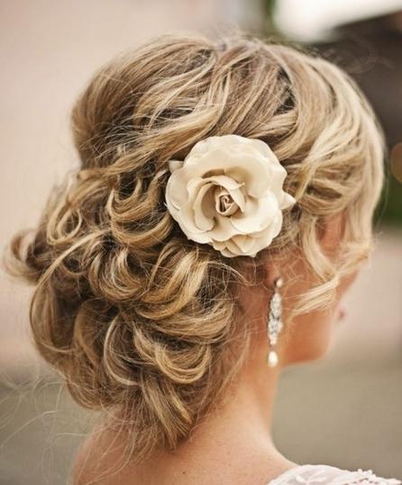 Beach Wedding Hairstyle with Flower