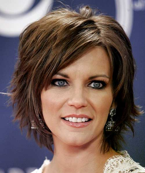 Short Shaggy Side Swept Haircut