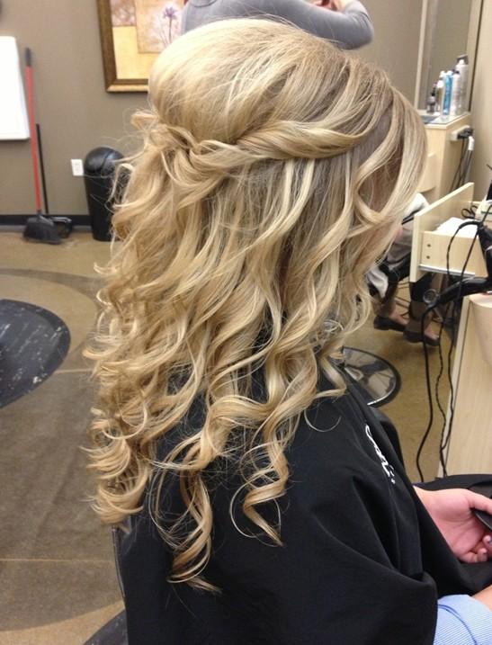 Cute Half Up Half Down Curly Hair
