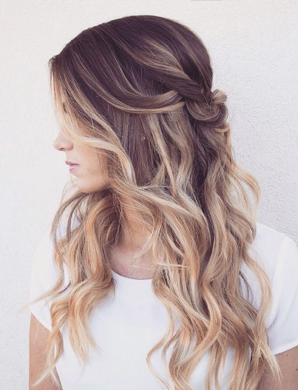 Brunette Hair with Blonde Highlights