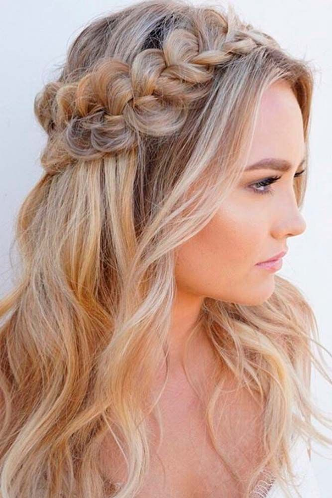 ideas for hair up styles 25 most attractive and beautiful half up half 7422