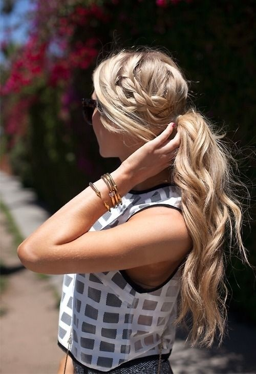 Braided Wavy Pony