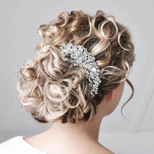 Bronde Curly Updo