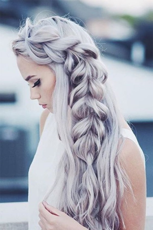 Half-side fishtail Braid