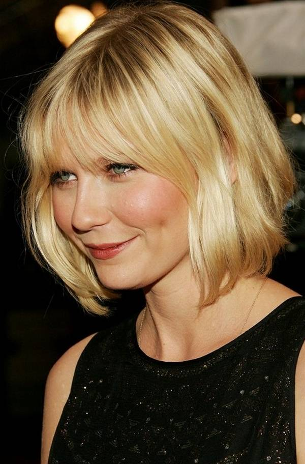 Light-Blonde Bob with Bangs