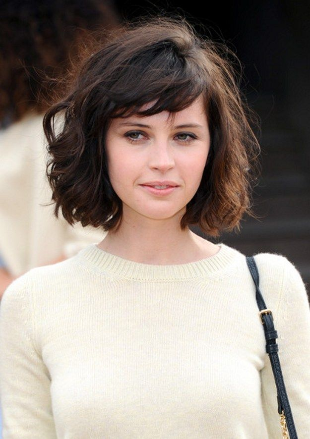 Messy Bob with Side Swept Bangs