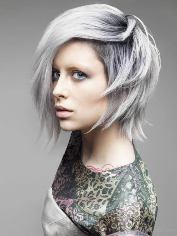 Black and Grey Bob