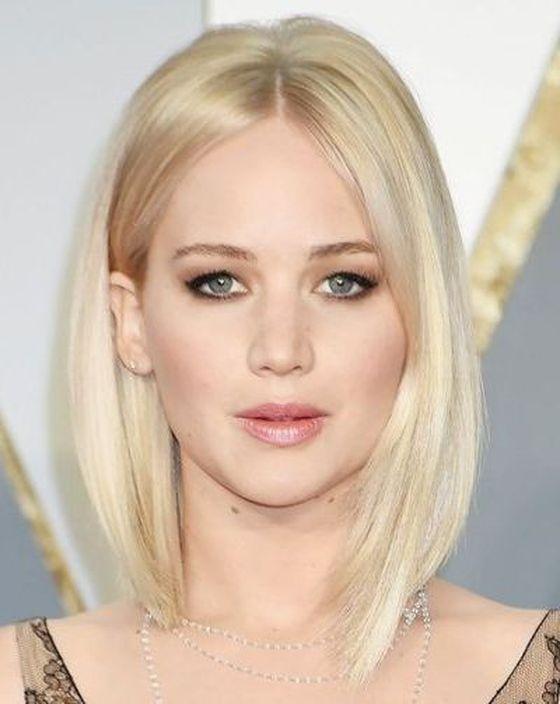 Asymmetrical Bleached Blonde Bob