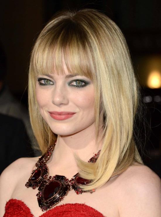 Blonde Blunt Bangs