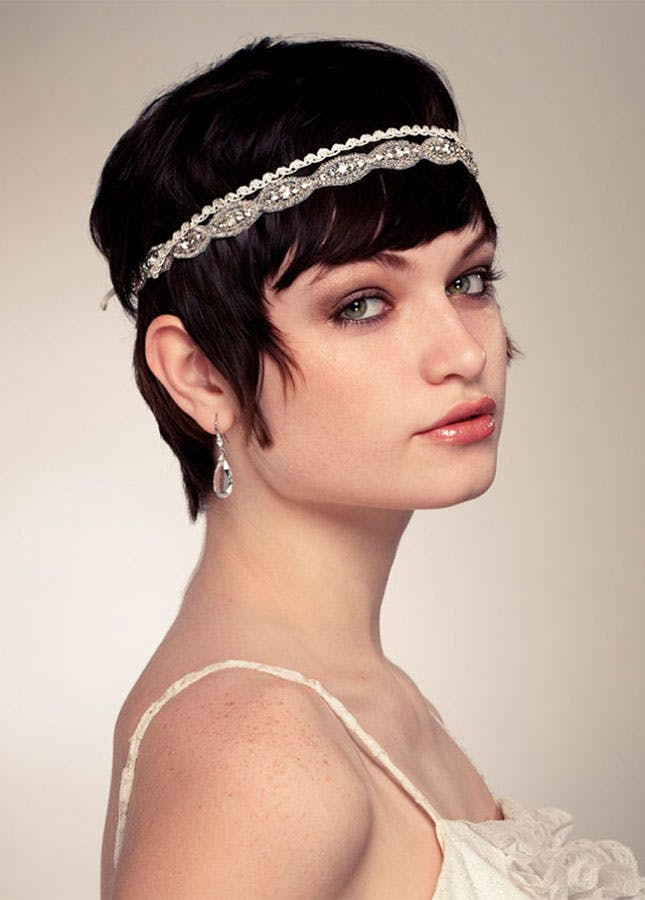 Boho Wedding Hairstyle with Headband