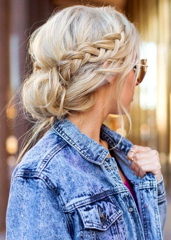 Braided Messy Low Updo