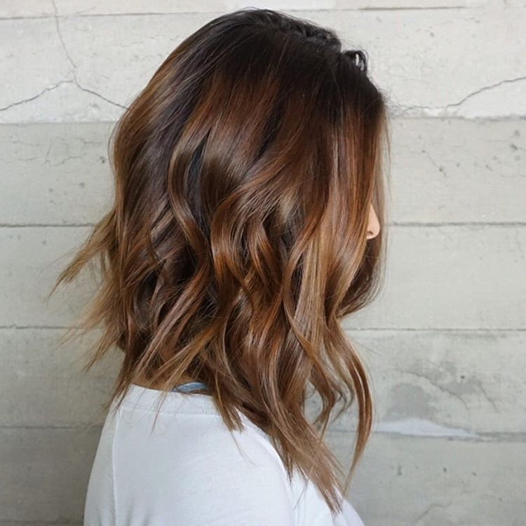 Brown Balayage Shoulder Length Hair