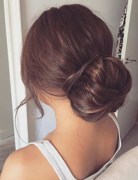 Bun Updo for Prom