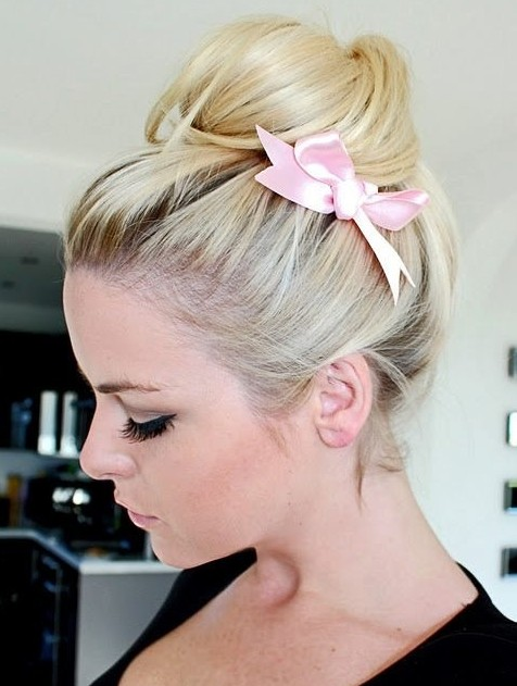 Bun Updo with Bow