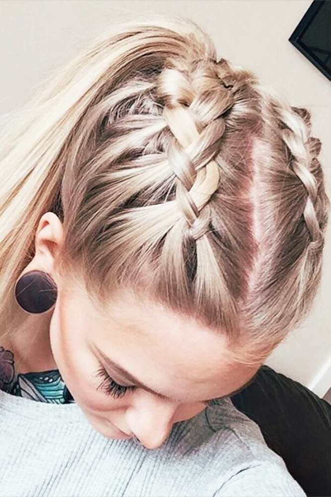 Dual Braids for Medium Hair
