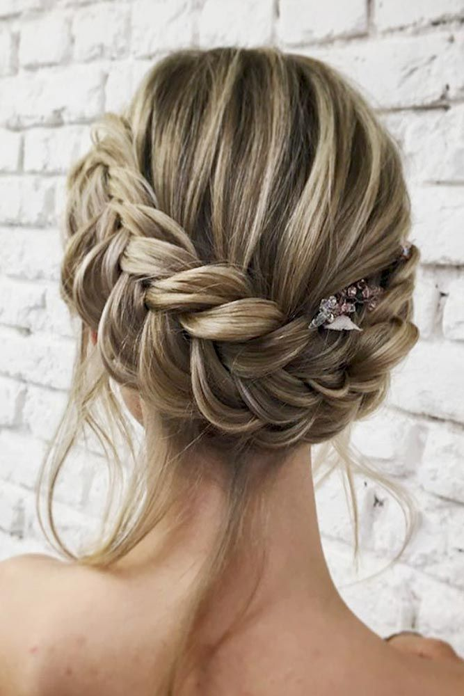 Dutch Braid Updo with Loose Locks