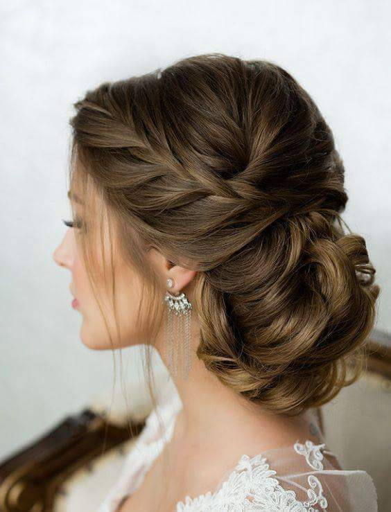 Elegant Braided Low Bun