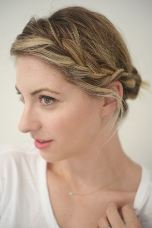 Fuss Free Side Braid Updo