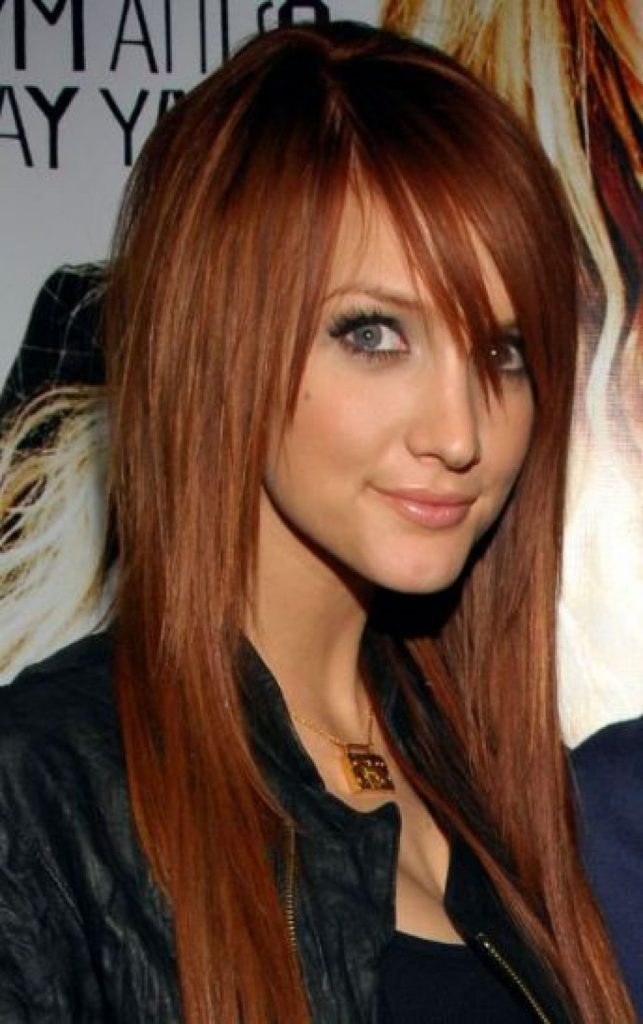 Long Red Emo Haircut