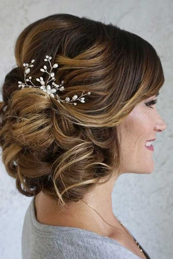 Messy Curled Updo