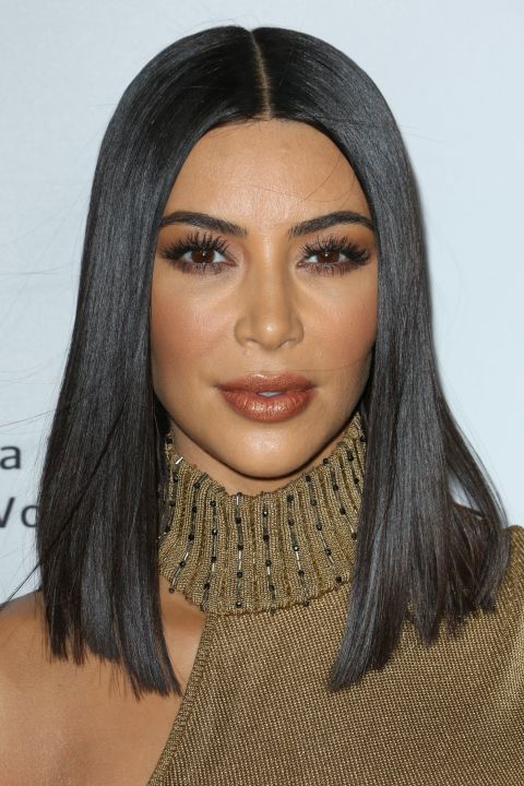 Middle Parted Sleek Straight Bob