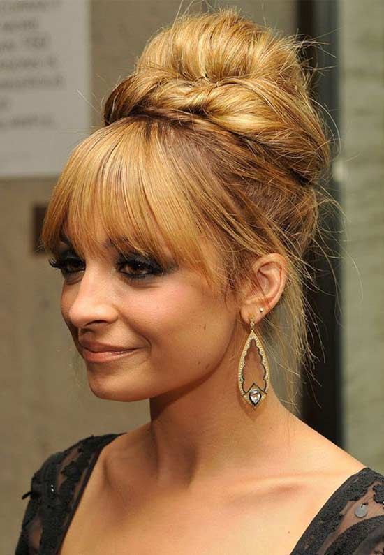 Nicole Richie Updo with Fringe