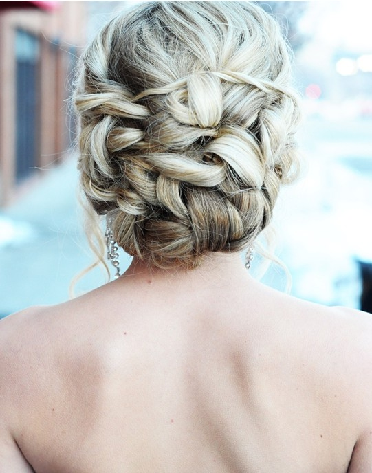 Romantic Twisted Bun Updo