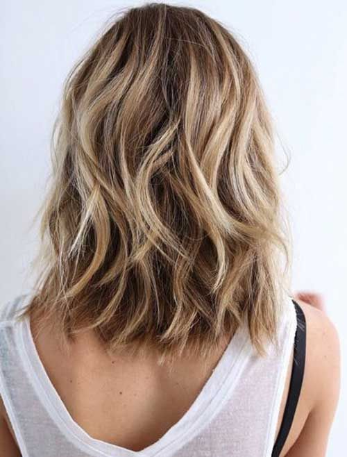 Shoulder Length Blonde Wavy Hair