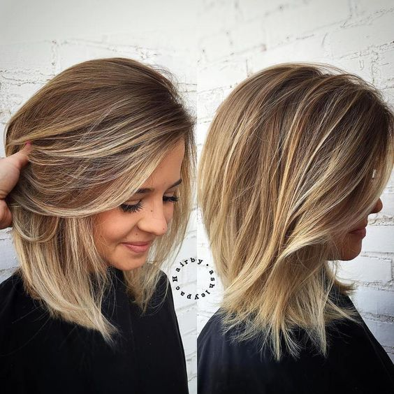 Side Swept Medium Length Hair