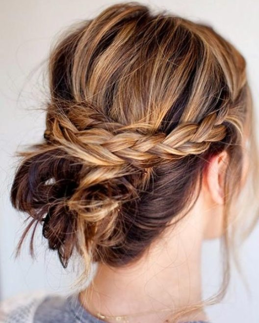 Tousled Messy Braided Updo