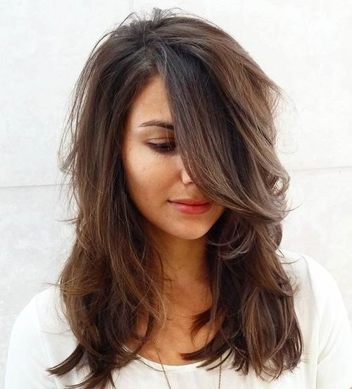 Medium Wavy Hairstyle with Layers