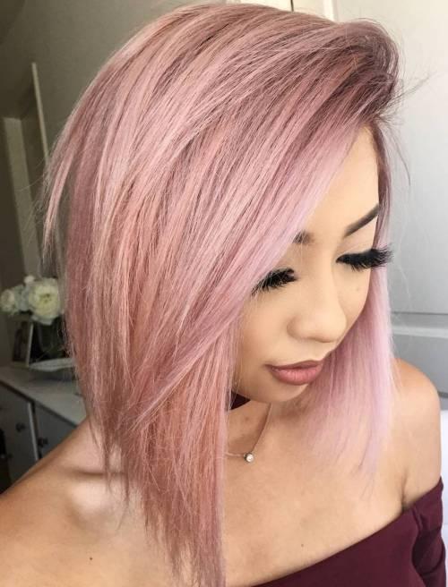 Straight Pink Lob