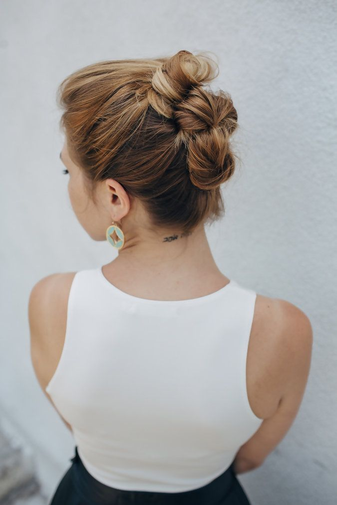 Triple Stacked Bun Updo