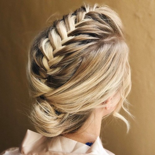 Braid into Bun Updo