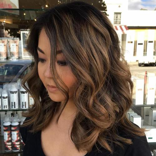 Brown Balayage Medium Hair